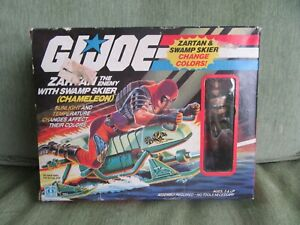 1984 HASBRO G.I. JOE ZARTAN SWAMP SKIER SCHIZO, Sealed Inside Contents.