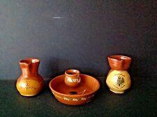 VTG Set TOLEDO/ SEGOVIA Spain Pottery Handmade Pitchers & OLIVE/ ACEITUNAS Bowl