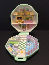 Polly Pocket Bluebird 1990 Green Octagon Case With Pool & School Issues