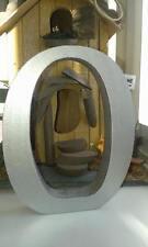 LETTERE di legno: ogni 2 Argento in Legno Lettere A-Z, 13 cm grande lettere e segni & @