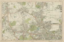 FRIERN BARNET/HORNSEY Palmers/Wood Green Southgate Muswell Hill. BACON  1919 map