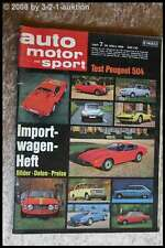 AMS Auto Motor Sport 7/69 Ford 20 M RS Peugeot 504 Vauxhall Viva GT