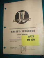 I & T Shop Manual Covers Massey Ferguson Mf25-Mf130 Trs