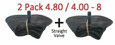 2 x 4.80 / 4.00 - 8 Innertube & STRAIGHT VALVE / Wheelbarrow / Wheel  Inner Tube