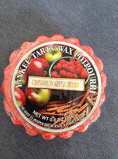 YANKEE CANDLE CINNAMON APPLE BERRY WAX MELT TART 0.8 OZ - RARE - BRAND NEW