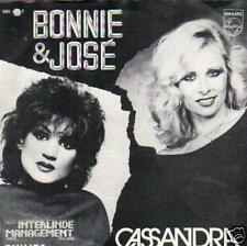 NEDERBEAT single 45 BONNIE & JOSÉ CASSANDRA St CLAIRE