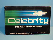 89 1989 Chevrolet Celebrity owners manual