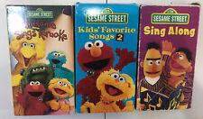 Sesame Street (3) VHS Tape Lot - Sings Karaoke/ Sing Along / Sing Along 2!