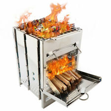 Fuel Furnace Wood Stove Grill Picnic Accessories Stainless Steel Charcoal Stove