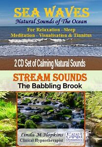 2 CD Box Set Sea Waves CD and Stream Sounds CD For Relaxation Sleep & Tinnitus