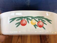 Corning Ware French White F2-B 2.8L Oval Casserole Baking Dish Christmas 1995