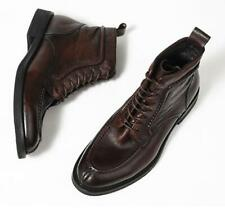 Cowboy Mens Real Leather Chukka Boots Shoes Lace up Business Pointy Toe British