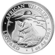 African Wildlife Leopard 1 OZ Silber Silver Argent 2019 Somalia Somalie