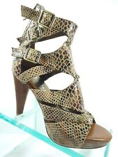 Jeffrey Campbell SIC Brown Leather Platform Gladiator Sandals Women's Size 7