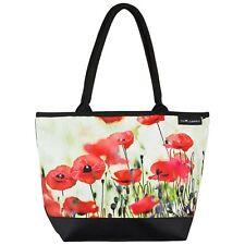 Tasche bunt Blumen Shopper Bag Hochzeit Geschenk elegant Damen Mohnblumen 4195