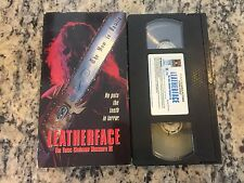 LEATHERFACE THE TEXAS CHAINSAW MASSACRE III 3 OOP VHS 1990 HORROR SLASHER HTF!