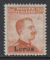 ITALY EGEO -LEROS n 9 MNH** with CERTIFICATE cv 600$ SUPER CENTERED no watermark