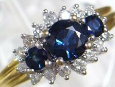 Sapphire Natural Multi-Tone Gold Fine Rings