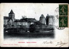 BEUVRON (58) BOVINS en PATURAGE , VILLAS , EGLISE & CHATEAU avant 1904