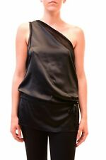 One Teaspoon Women's Authentic New One Shoulder Tunic Black 10 RRP $107 BCF79