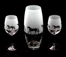 More details for horse gift vase & pair of wine glasses.