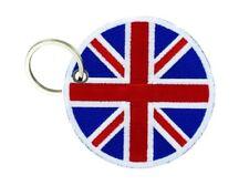 Keychain keyring embroidered patch flag crest emblem london uk union jack