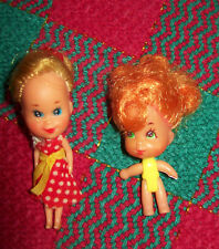 "Mattel Little Kiddles Storykin 2 1/2"" Doll & 2"" Red Hair Little Kiddles Pee Wee"