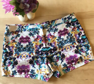 NICOLE By Nicole Miller Women's Multicolor Shorts Size 14