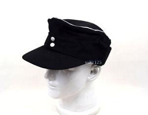 WWII German Officer EM M43 Summer Panzer Field Cotton Cap Hat Black size 58cm