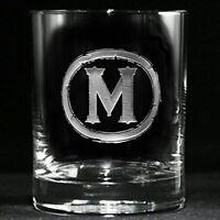 Personalized whiskey, scotch, bourbon glasses SET OF 2 (M9)