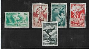 Monaco 1948 Participation in Olympic Games Wembley MNH