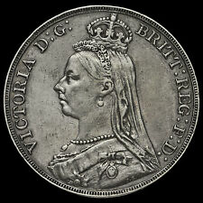 1891 Queen Victoria Jubilee Head Silver Crown, GVF+