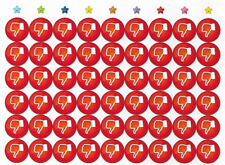 54 pegatinas no les gusta Rojo motivación GEFÜHLE Hoja artesanal OK ✔️