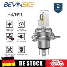 H4/HS1 LED Scheinwerfer Fernlicht Abblendlicht Birne Weiß 6500K Motorrad ATV 12V