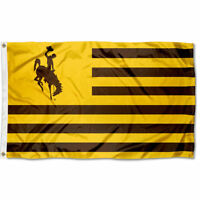 University of Wyoming Cowboys Stars and Stripes Nation USA Flag