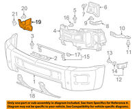 Chevrolet GM OEM Silverado 2500 HD Front Bumper-Outer Bracket Right 25883350