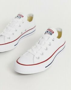 CONVERSE ALL STAR LOW  WHITE  MEN'S UK 8.5 ORIGINALS NEW BOXED
