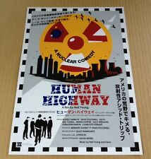 2015 Human Highway Neil Young Japan movie flyer / mini poster / devo Mint
