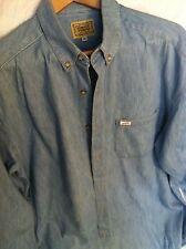 Guess Men's Denim Long Sleeve Shirt Size Medium