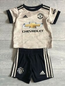 Infant Manchester United away football kit size 3-6 months Adidas 2019-2020