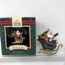 Hallmark Keepsake Santa Claus Reindeer Fifth of Five in Series Ornament