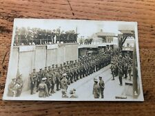 More details for ww1 photo postcard . troops leaving for france from southampton or portsmouth