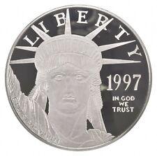 Silver 4 Oz. 1997 Statue Of Liberty Platinum Layered Round .999 Fine Silver *576