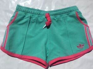 NEW Adidas Originals Womens Trefoil Summer Shorts Joy Green Mint Joy Pink Z73692
