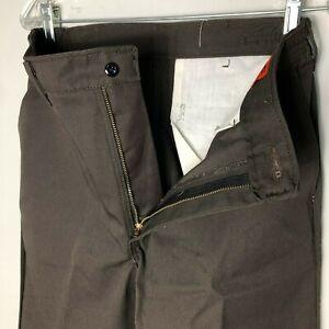 Red Kap Men's Elastic Waist Work Pants, Brown Unhemmed