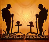 Pair WW1 Remembrance Lest We Forget Centenary 1914-1918 Tommy Soldier Armistice