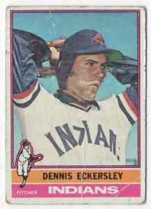 DENNIS ECKERSLEY RC - 1976 TOPPS #98 !