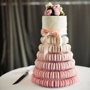 6 Tier Round Macaron Tower Stand Cake Display Rack Wedding Party Birthday
