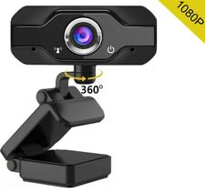 360°Rotation HD 1080P USB Webcam w/Mic Web Camera For PC Laptop Video Conference