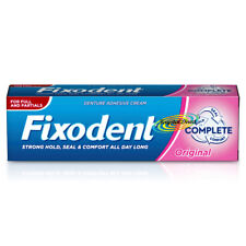 Fixodent Original Complete Denture Adhesive Cream 47g Hold Seal & Comfort